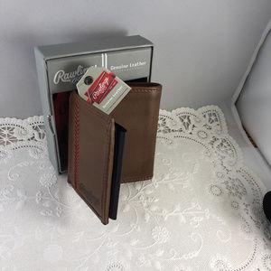 Rawlings Bags - Vintage Rawlings Vintage Tri Fold Leather Wallet